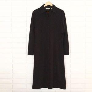 SALE! Eddie Bauer Black Button-Down Maxi Dress